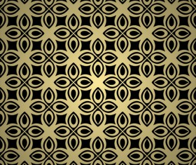 Luxury golden decorative pattern seamless vector 05