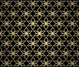 Luxury golden decorative pattern seamless vector 06