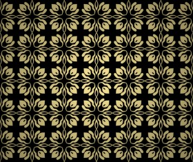 Luxury golden decorative pattern seamless vector 07