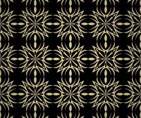 Luxury golden decorative pattern seamless vector 11