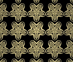 Luxury golden decorative pattern seamless vector 12