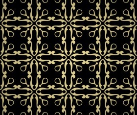 Luxury golden decorative pattern seamless vector 13