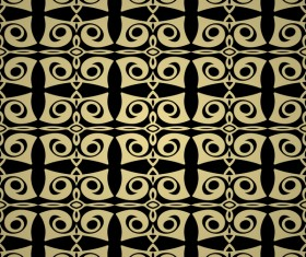 Luxury golden decorative pattern seamless vector 14