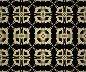 Luxury golden decorative pattern seamless vector 15