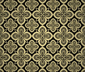 Luxury golden decorative pattern seamless vector 16