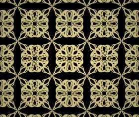 Luxury golden decorative pattern seamless vector 17