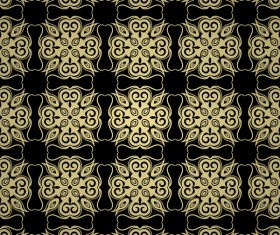 Luxury golden decorative pattern seamless vector 18
