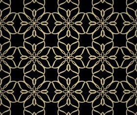 Luxury golden decorative pattern seamless vector 19