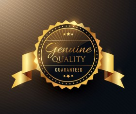 Luxury quality element label vector