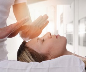 Magical qigong therapy Stock Photo 02