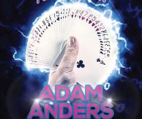 Magician poster psd template