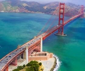 Majestic sea bridge Stock Photo