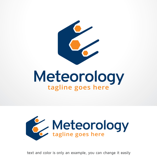 Meteorology logo vector design