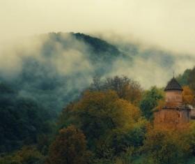 Misty Mountains Stock Photo