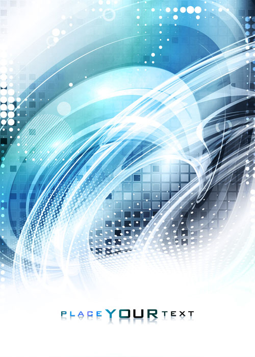 Modern tech with blue abstract background vectors