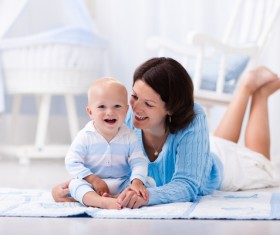 Mother and baby happy smile Stock Photo