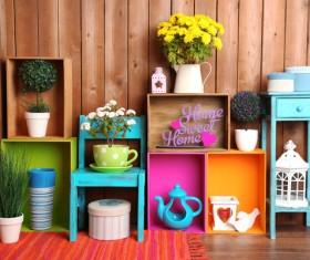 Multifunctional color bookshelves Stock Photo 06