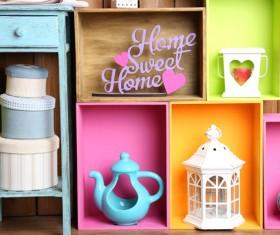 Multifunctional color bookshelves Stock Photo 07
