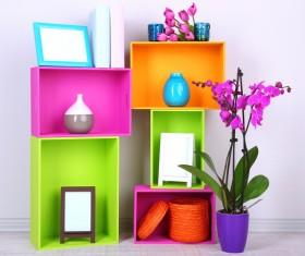 Multifunctional color bookshelves Stock Photo 10