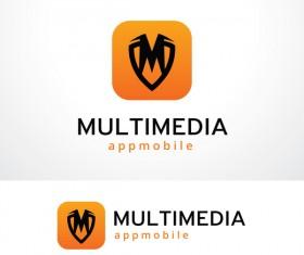 Multimedia logo design vector 01