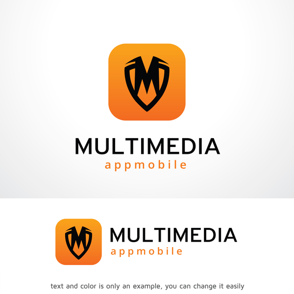 Multimedia logo design vector 01