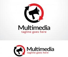 Multimedia logo design vector 02