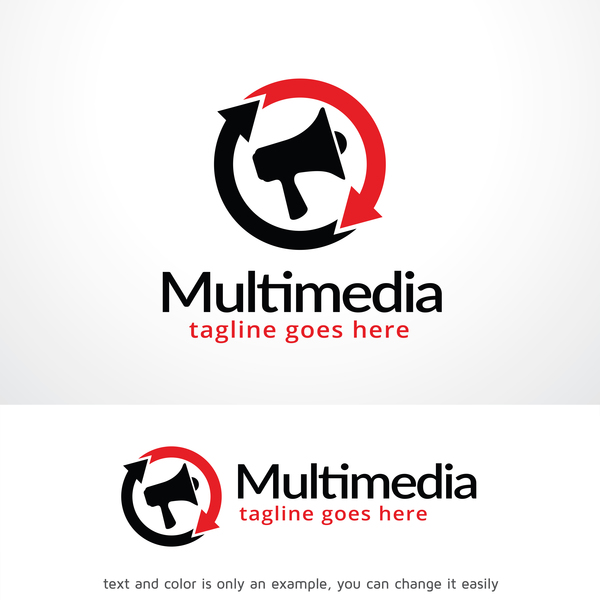 Multimedia logo design vector 02