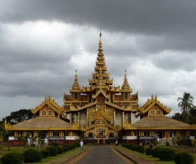Myanmar Burgundy Palace Stock Photo