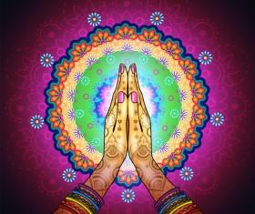 Namaste Mandala design vector