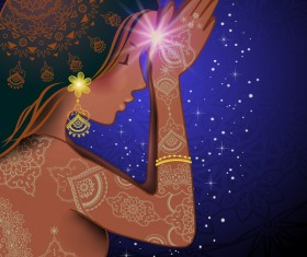 Namaste Woman design vector