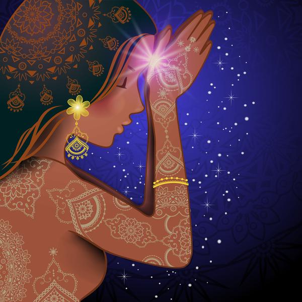 Namaste Woman design vector