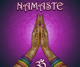 Namaste styles vector material
