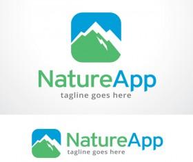 Nature App logo vector