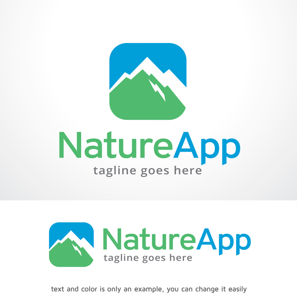 Nature App logo vector
