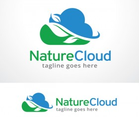 Nature Cloud logo vector