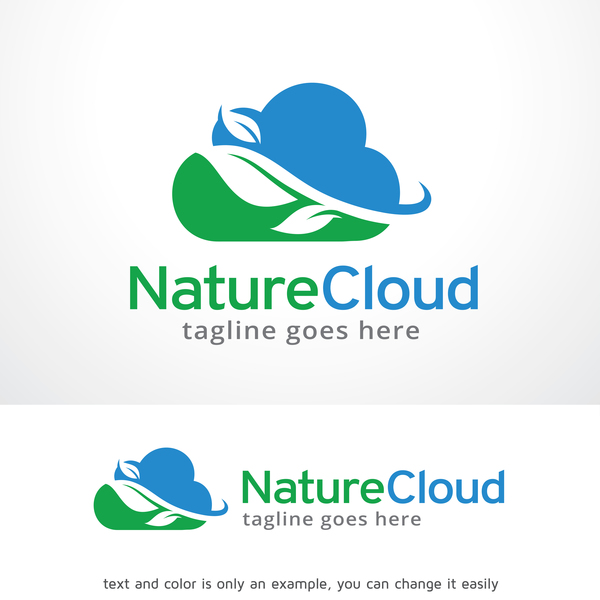 Nature Cloud logo vector