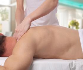 Neck massage therapy Stock Photo
