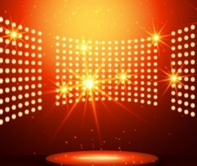 Neon effect scene  background vector