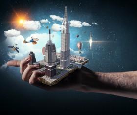 New Development Project Modern City Model Stock Photo 03