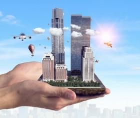 New Development Project Modern City Model Stock Photo 04