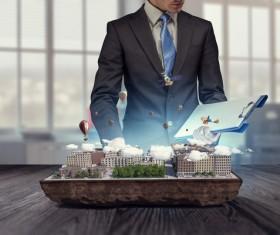 New Development Project Modern City Model Stock Photo 08