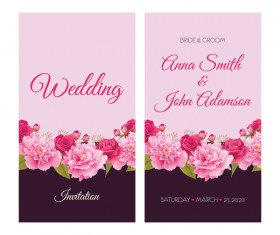 New wed invitation card creative vector 04