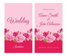 New wed invitation card creative vector 05