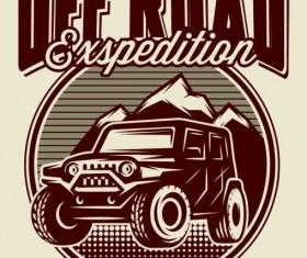 Off road retro poster vector