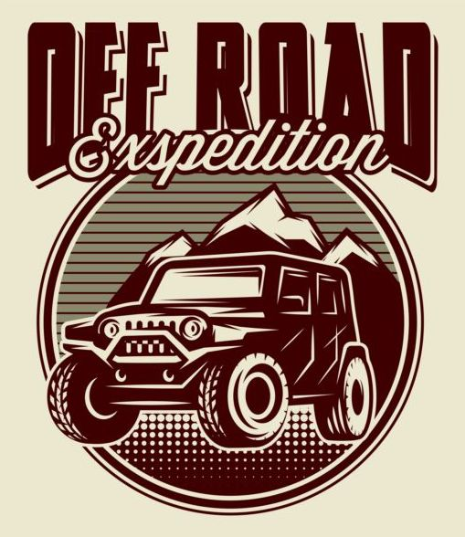 Off road retro poster vector