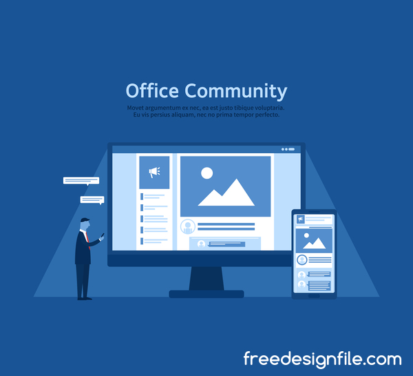 Office community business background vector