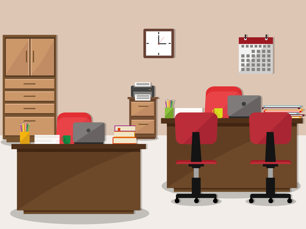 Office flat styles background vector 03
