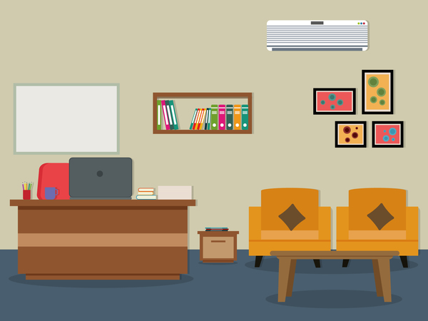 Office Flat Styles Background Vector 04 Free Download