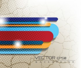 Old crack with colored tapes background vector