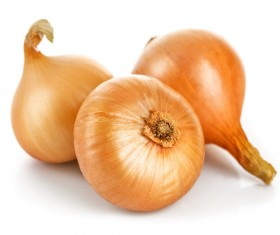 Onions on a white background HD picture